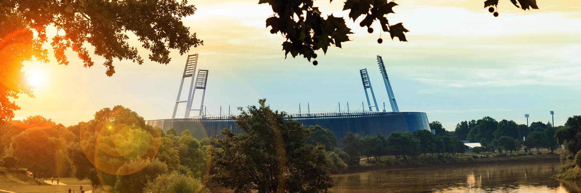 Das Weserstadion Bremen, Spielstätte des SV Werder Bremen