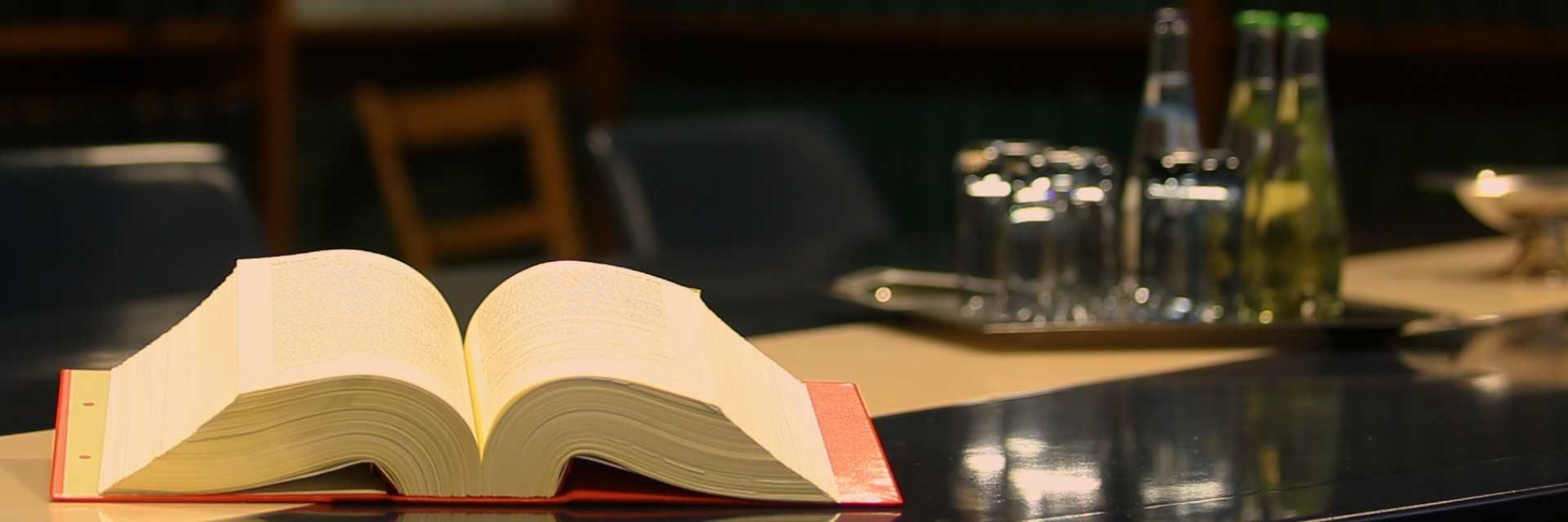 Foto von kessler&partner mit einem Gesetzbuch zum Thema Fachgebiete